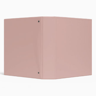 Dusty Rose Pale Pink Solid Trend Color Background Binder