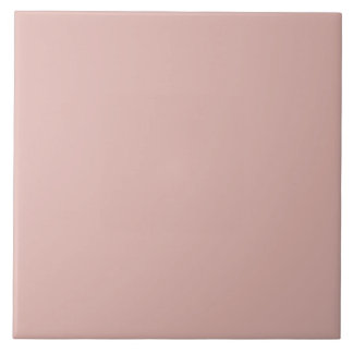Dusty Rose Pale Pink Solid Trend Color Background Ceramic Tile