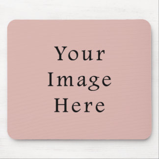 Dusty Rose Pink Color Trend Blank Template Mouse Pad