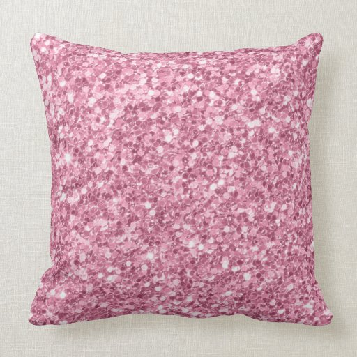 Dusty Rose Pink Glitter Texture Print Throw Pillow Zazzle