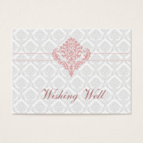 dusty rose pink wishing well cards
