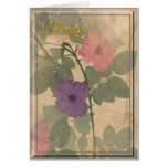 Dusty Rose Sorry Greeting Card