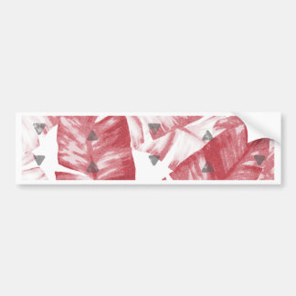 Dusty Rose Tropical Banana Leaves Arrows Design Bumper Sticker