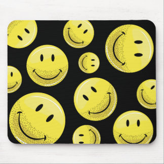 Dusty Ruff Bearded Smiley Face Mouse Pad