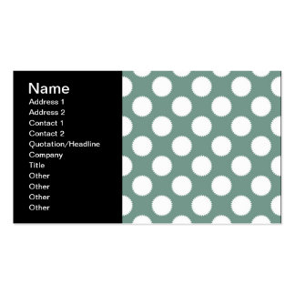 Dusty Sage Green and White Polka Dot Pattern Business Card Templates