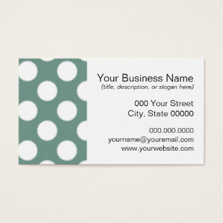 Dusty Sage Green and White Polka Dot Pattern Business Card