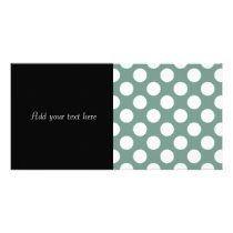 Dusty Sage Green and White Polka Dot Pattern Card