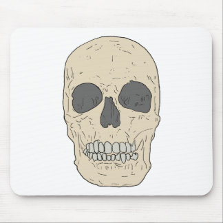 dusty skull mouse pad