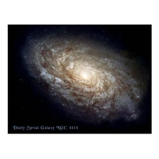 Dusty Spiral Galaxy NGC 4414 Postcard