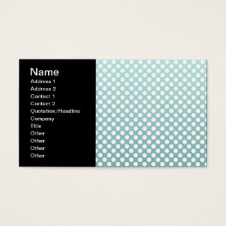 Dusty Teal and White Polka Dot pattern Business Card