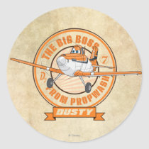 Dusty - The Big Boss from Propwash Classic Round Sticker