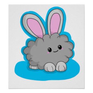 Dusty the Dust Bunny Poster