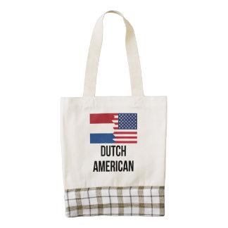 Dutch American Flag Zazzle HEART Tote Bag