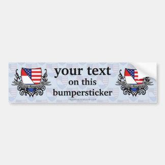 Dutch-American Shield Flag Bumper Sticker