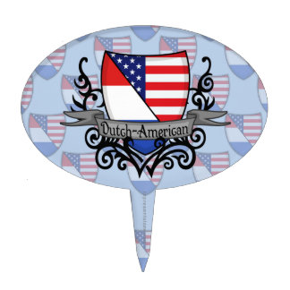 Dutch-American Shield Flag Cake Toppers