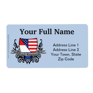 Dutch-American Shield Flag Label