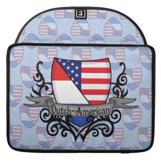 Dutch-American Shield Flag MacBook Pro Sleeves