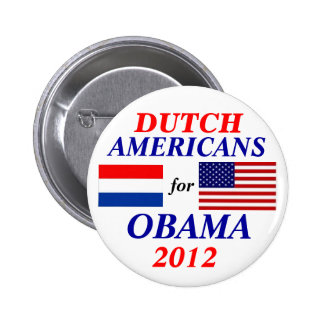 Dutch americans for Obama Button