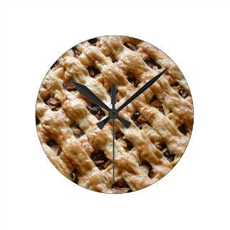 Dutch Apple Pie Round Clock