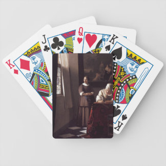Dutch Artist Vermeer Painting Bicycle Playing Cards