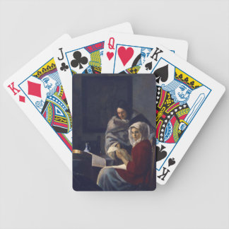 Dutch Artist Vermeer Painting Girl Interupted Bicycle Playing Cards