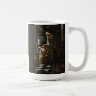 Dutch Artist Vermeer Painting - Love Letter Coffee Mug