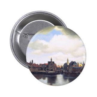 Dutch Artist Vermeer Painting Pinback Button
