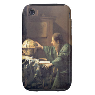 Dutch Artist Vermeer Painting the astronomer Tough iPhone 3 Cases