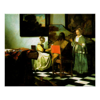 Dutch Artist Vermeer Painting The Concert Poster
