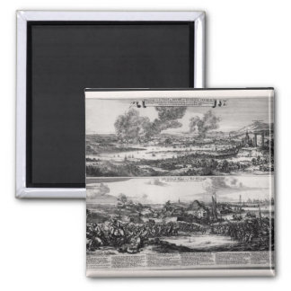 Dutch Attack on the River Medway 2 Inch Square Magnet