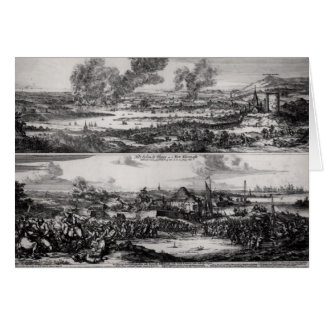 Dutch Attack on the River Medway Card