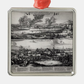 Dutch Attack on the River Medway Metal Ornament