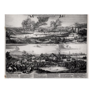 Dutch Attack on the River Medway Postcard