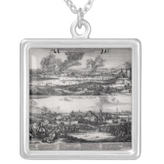 Dutch Attack on the River Medway Square Pendant Necklace