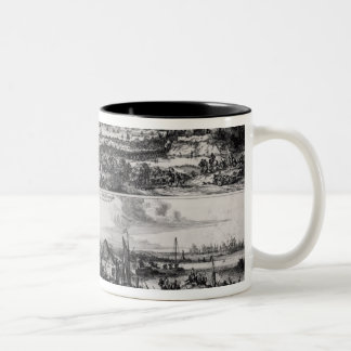 Dutch Attack on the River Medway Two-Tone Coffee Mug