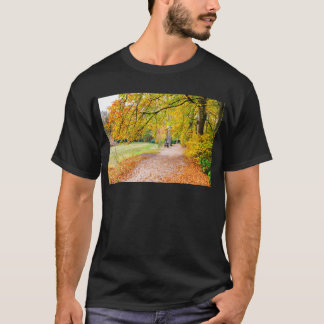Dutch autumn landscape with footpath and tree T-Shirt