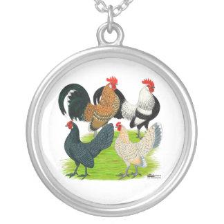 Dutch Bantam Quartet Round Pendant Necklace
