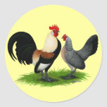 Dutch Bantams:  Cream Light Brown Stickers