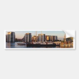 Dutch Barge In London Bumper Sticker