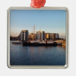 Dutch Barge In London Christmas Tree Ornament