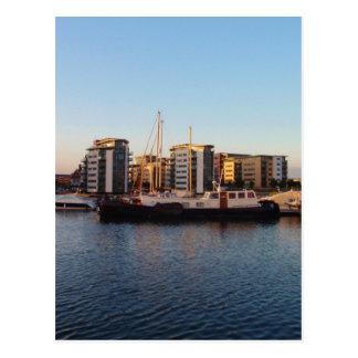 Dutch Barge In London Postcard