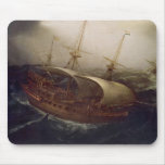 Dutch Battleship in a Storm Mouse Pad