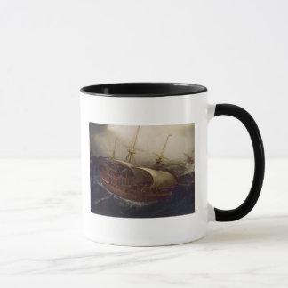 Dutch Battleship in a Storm Mug