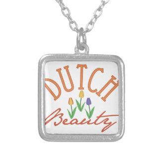 Dutch Beauty Square Pendant Necklace
