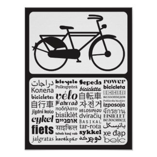 Dutch Bicycle - Bicycle in Different Languages Poster