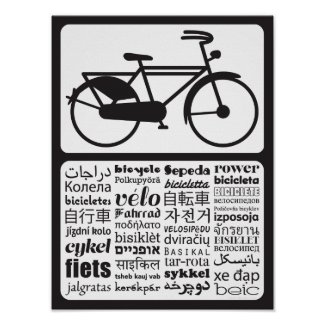 Dutch Bicycle - Bicycle in Different Languages Print