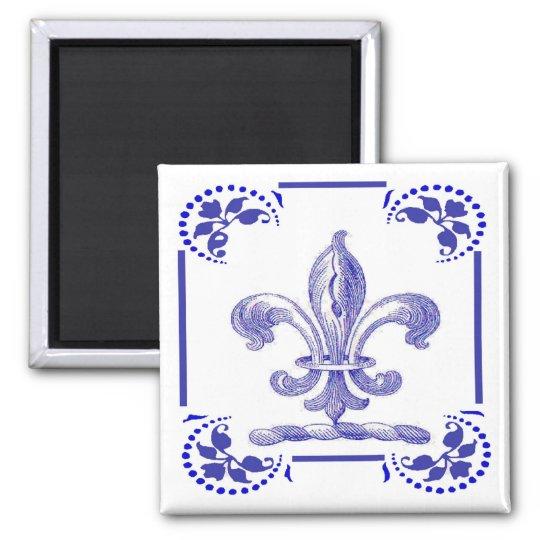 Dutch Blue Fleur De Lis Magnet