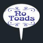 "Dutch Blue No Toads Garden Plastic Sign Cake Topper<br><div class=""desc"">Dutch Blue Herb Garden Plastic Sign ,  stick in pots, </div>"