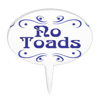 Dutch Blue No Toads Garden Plastic Sign Cake Topper