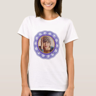 Dutch Blue on White Lace with Photo T-Shirt
